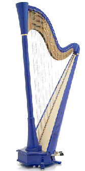 French Blue Harp by Camac